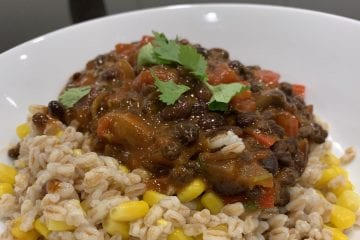 Vegan Chilli with Emmer Wheat (Farro)
