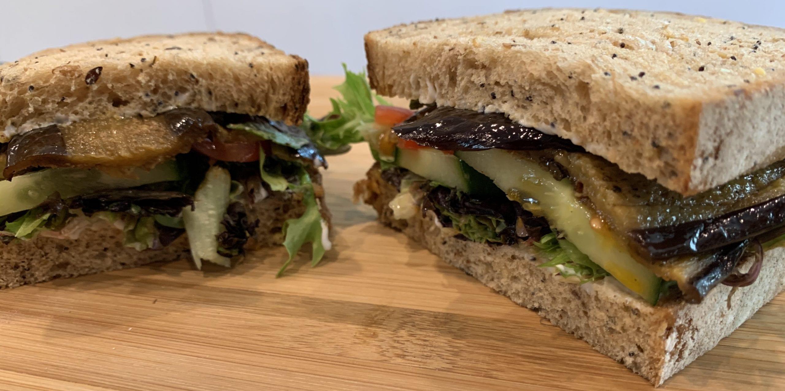 Roasted Aubergine Sandwich