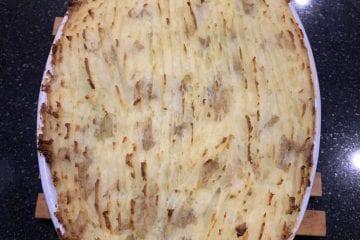 Lentil and mushroom shepherdess pie