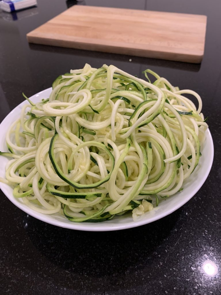 Mushroom Bolognese with Courgetti