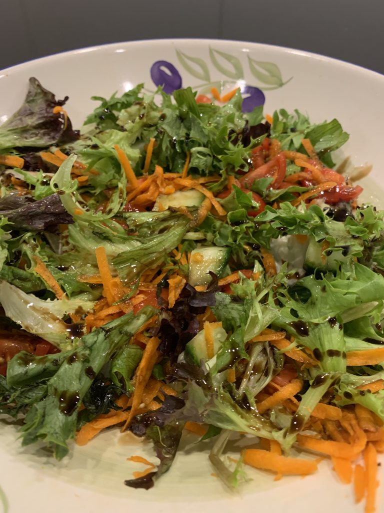 mixed salad with balsamic & lime dressing