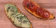 sweet potato toast with toppings