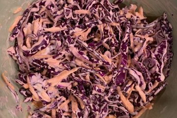 Red Cabbage & Carrot Coleslaw