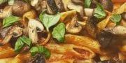 Penne Pasta, Mushrooms and  tomato sauce
