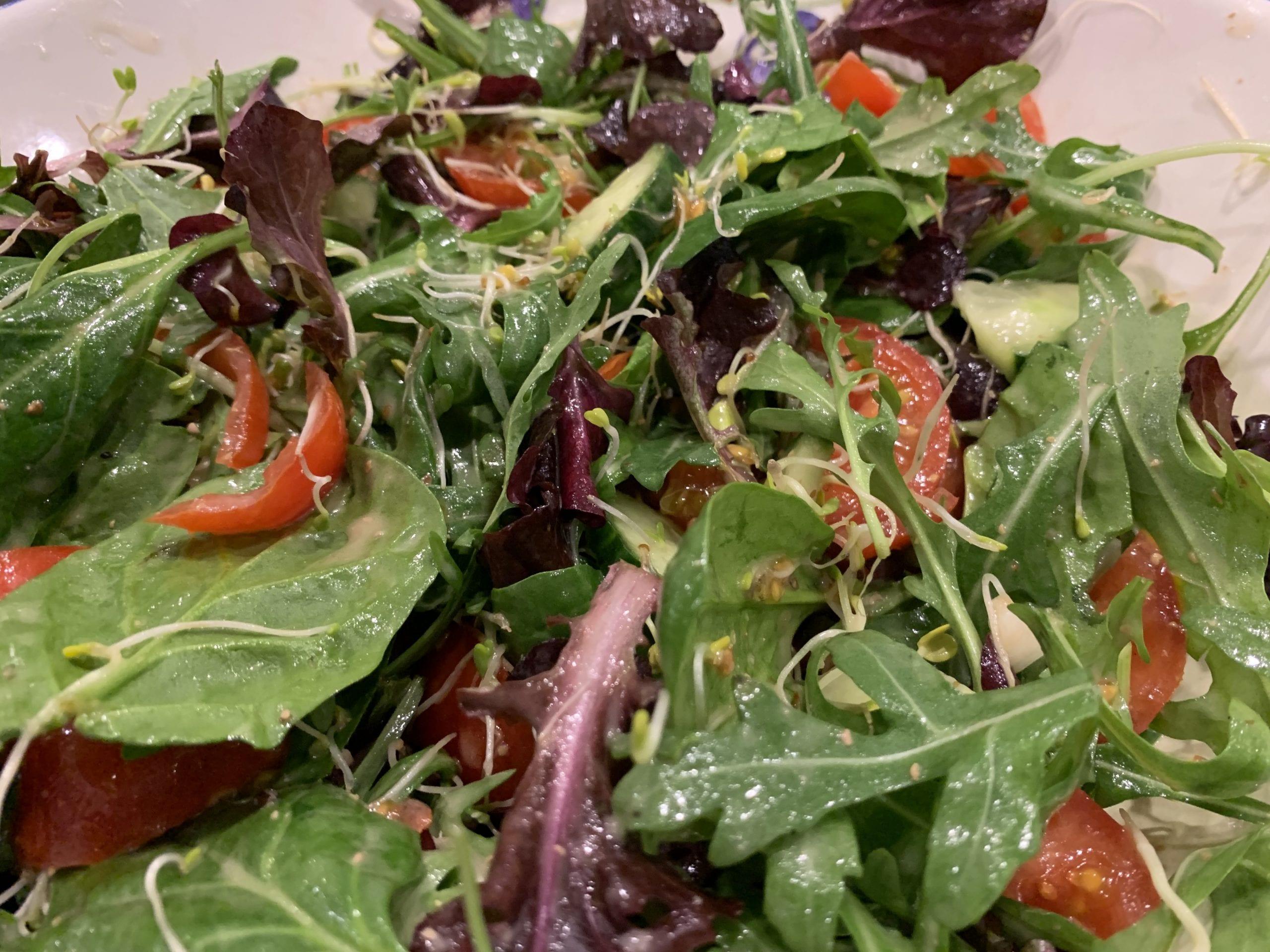 french salad dressing on salad