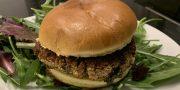 falafel and bean burger