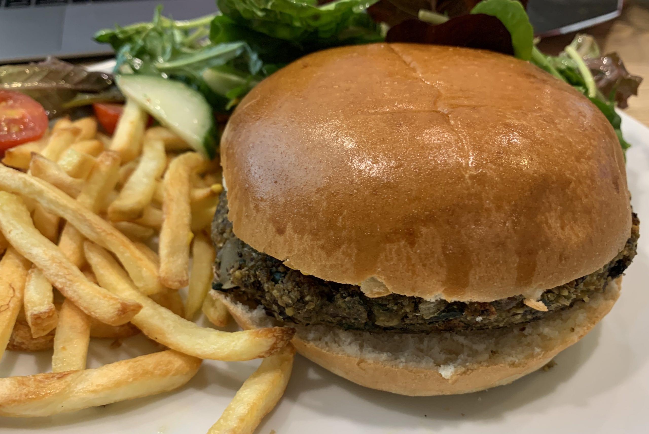 black bean burger
