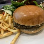 Black bean, Spinach and Falafel Burger