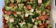 broccoli, tomato, hazelnut salad