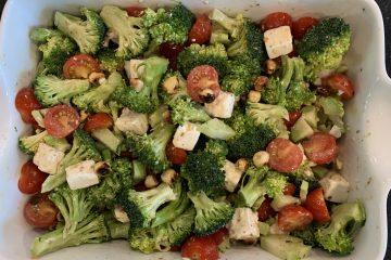 Broccoli, hazelnut, tomato Salad