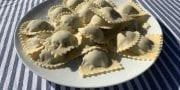 Lentil, Pine nut and Mushroom Ravioli