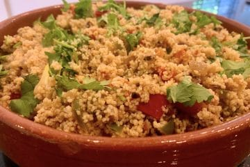 Moroccan red pepper couscous salad