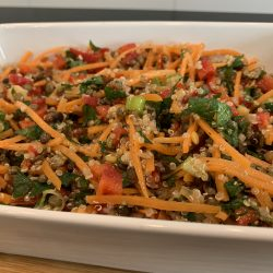 Lentil and Quinoa mint salad