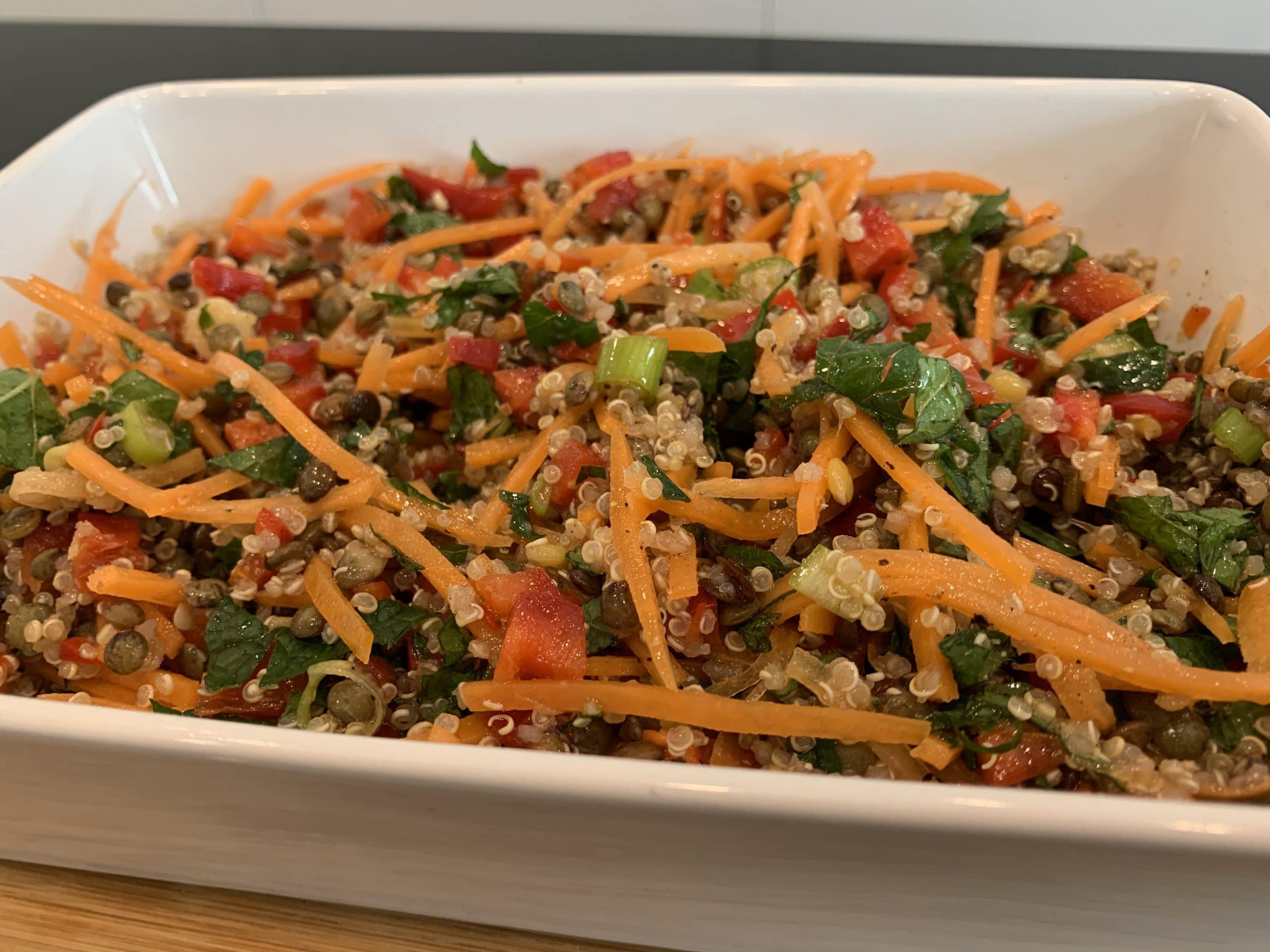 Lentil and Quinoa mint salad