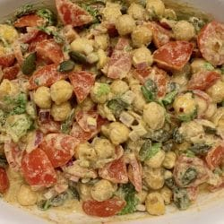 Moroccan chickpea and sunflower salad