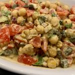 Moroccan Chickpea and sunflower seed salad