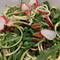 courgette, pea and radish salad