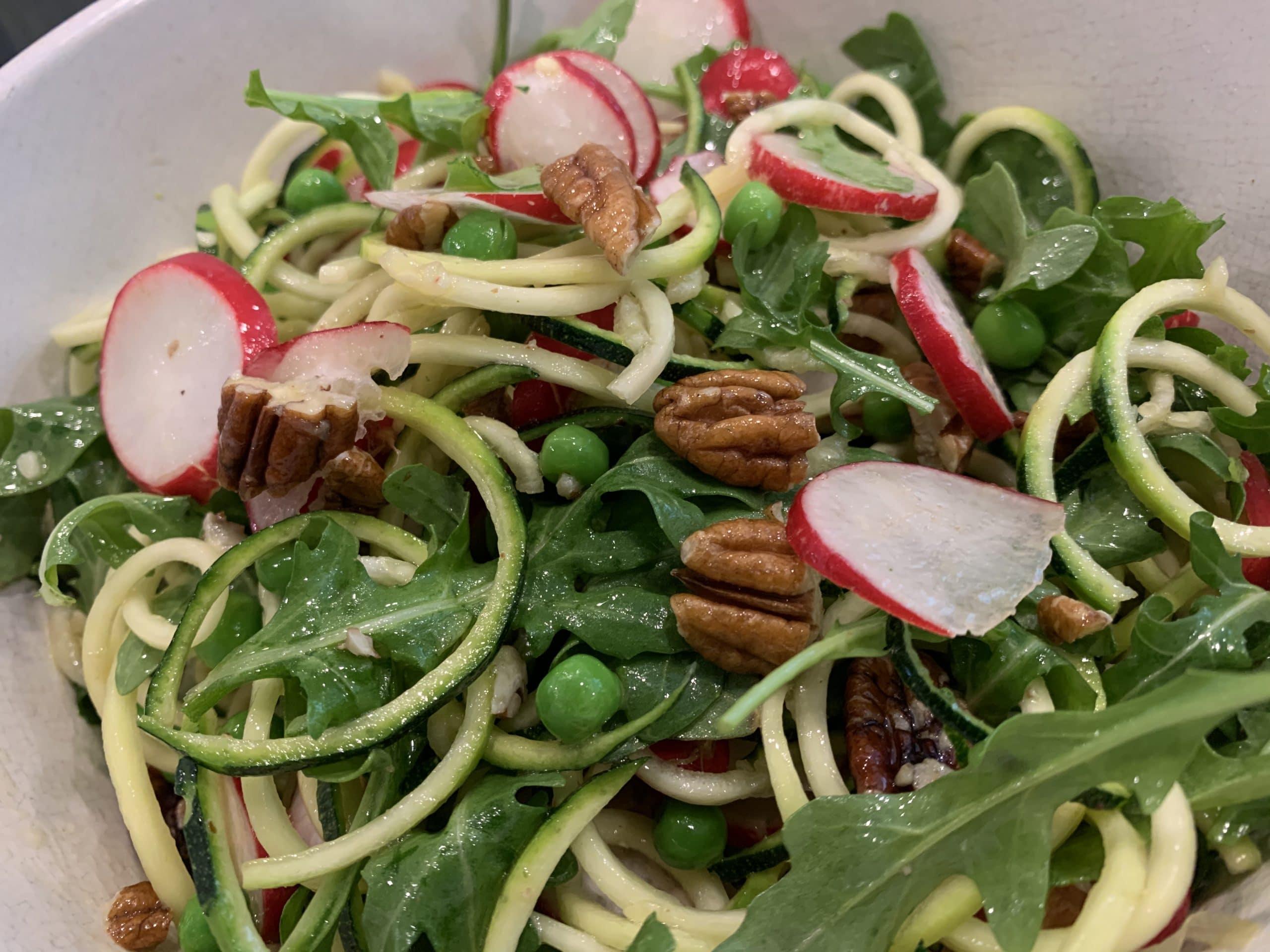 courgette, pea and radish salad