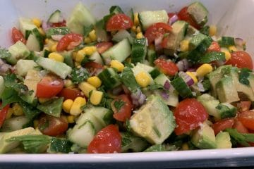 Avocado, tomato and sweetcorn salad