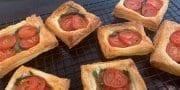 Tomato, Basil and Garlic Tarts