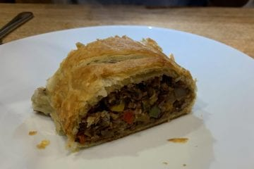 Two Bean puff pastry roll