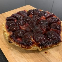 beetroot and red onion tatin